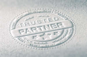 Trusted partners embossed image