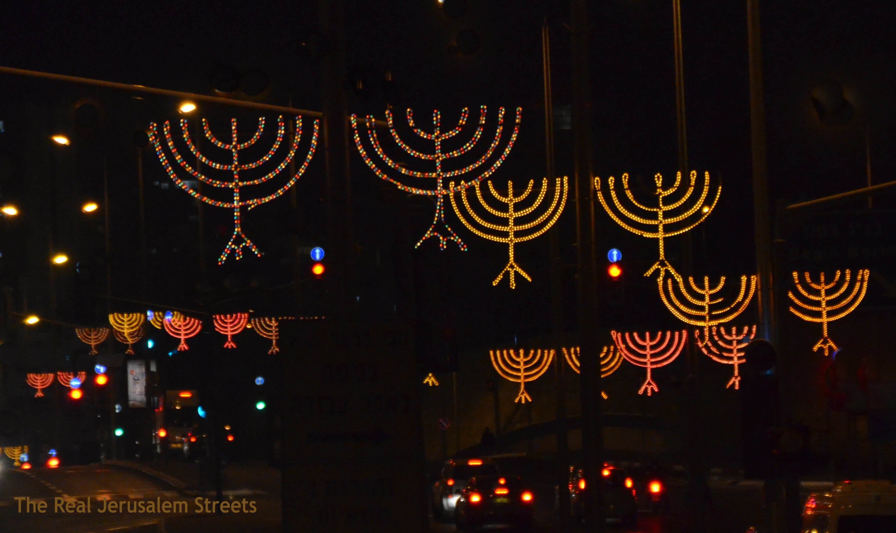 Menorahs in Jerusalem