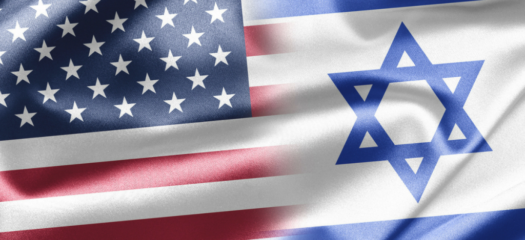 israeli and american flag