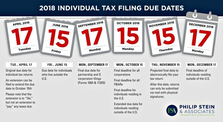 tax deadline calendar