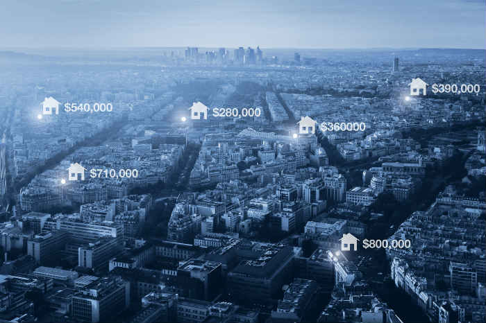 Prices of real estate in the city