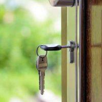 Keys and lock the door