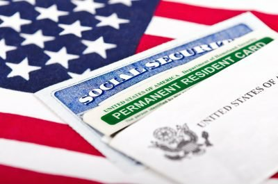 Us flag and social security
