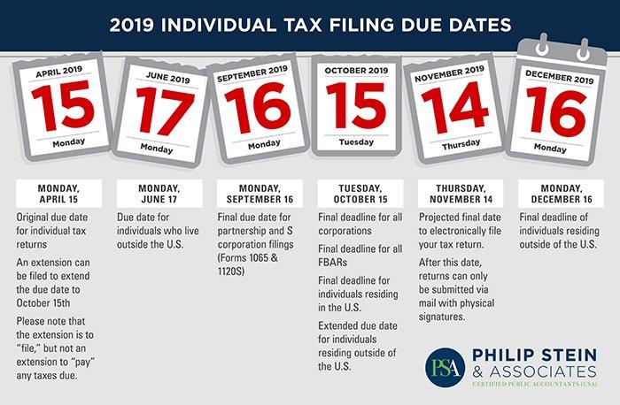 Tax Deadlines 2019 Final