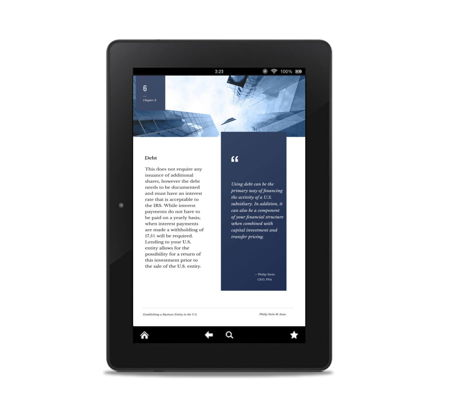 internal page of an ebook